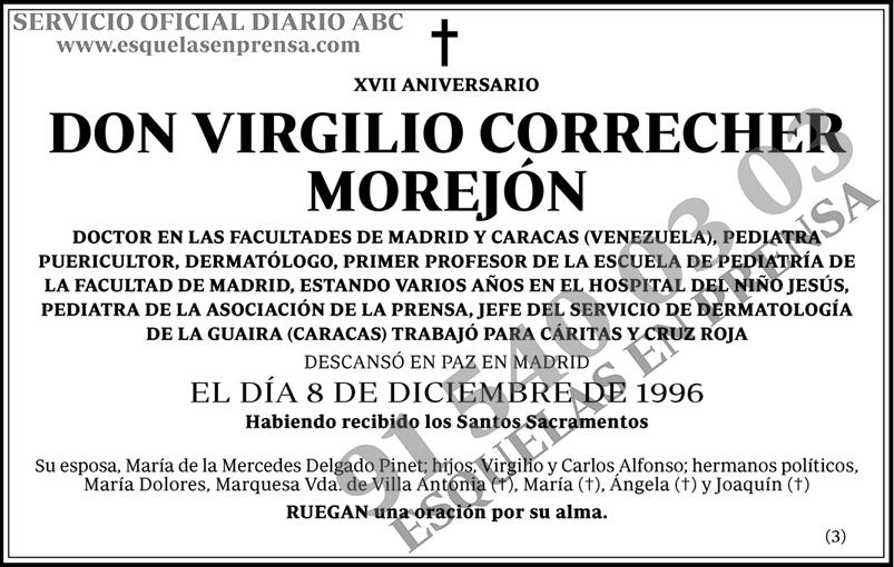 Virgilio Correcher Morejón